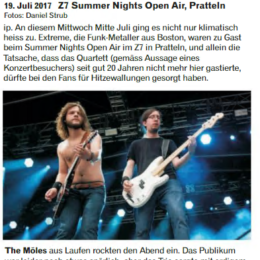 "Live Review: ""Extreme, Maxxwell, The Möles"" (Tracks Magazin No.5/2017)"