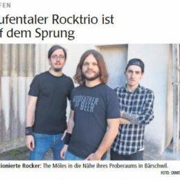 """BERICHT: """"Laufentaler Rocktrio ist auf dem Sprung"""" (Wochenblatt)"""